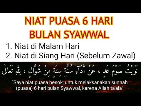 Niat Puasa 6 Enam Hari Bulan Syawal
