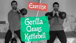Gorilla Cleans. Взятия гирь на грудь ГОРИЛЛА