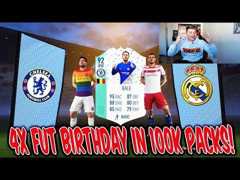 4x FUT BIRTHDAY KARTEN! 💎💎 Die BESTEN 100K Lightning Rounds! 🔥 Fifa 18 Pack Opening Ultimate Team