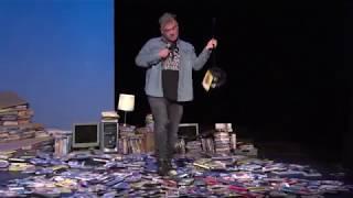 Stewart Lee stamps on DVDs