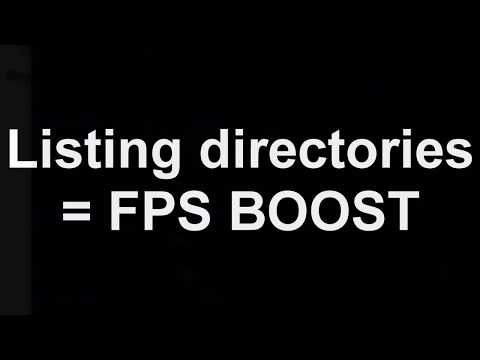 sau ashor thinks he can get away with saying listing directories is fps boost