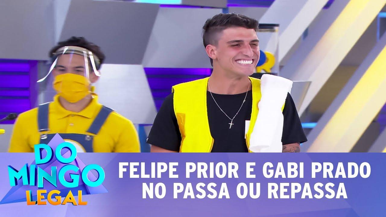 Felipe Prior e Gabi Prado no Passa ou Repassa | Domingo Legal (02/08/20)