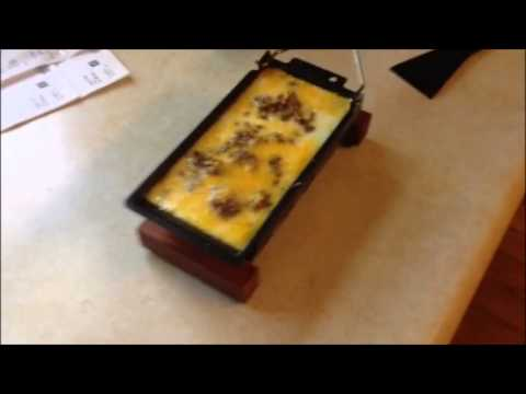 Emmi Candle light raclette!! Scambled Egg