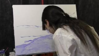 Зимний пейзаж Клода Моне, копируем импрессионизм, Фания Сахарова