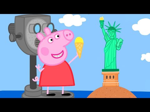 Peppa Pig Official Channel 🤩 New 🤩 Peppa Pig Visits America!   Peppa Pig's Holiday in the US