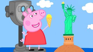 Peppa Pig Official Channel 🤩 New 🤩 Peppa Pig Visits America Peppa Pigs Holiday In The US