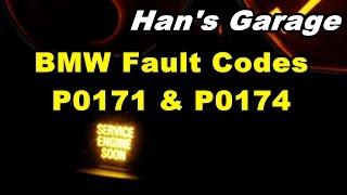 bmw most common vacuum leaks p0171 p0174 fault codes explained