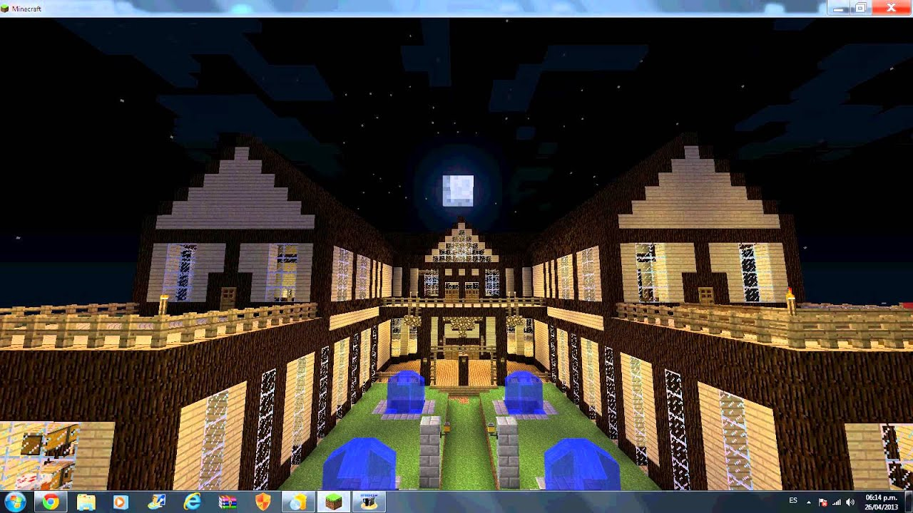 Mansion de minecraft 1 5 2 youtube for Mansiones modernas