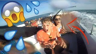 CRAZY BOAT RIDE! (WE GOT SOAKED)
