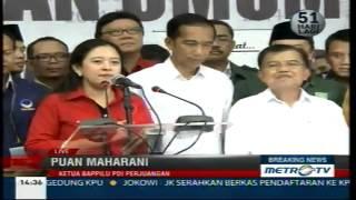 Download Video Pidato Jokowi dan Puan Maharani saat Pendaftaran Capres di KPU MP3 3GP MP4