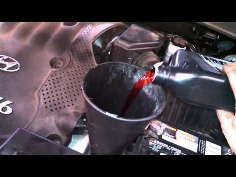 2007 hyundai santa fe transmission fluid change