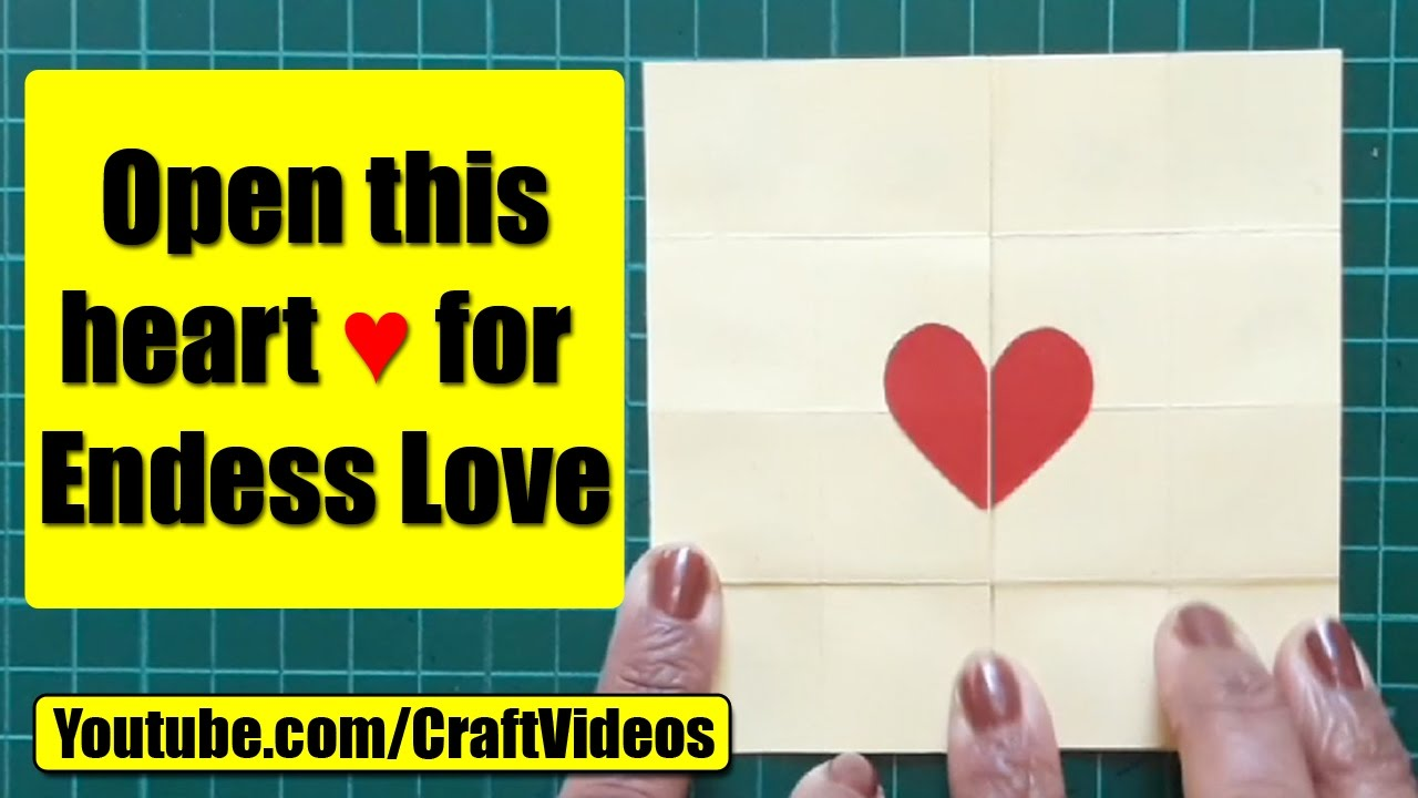 How To Make An Endless Love Valentine Card – Youtube Valentines Day Cards