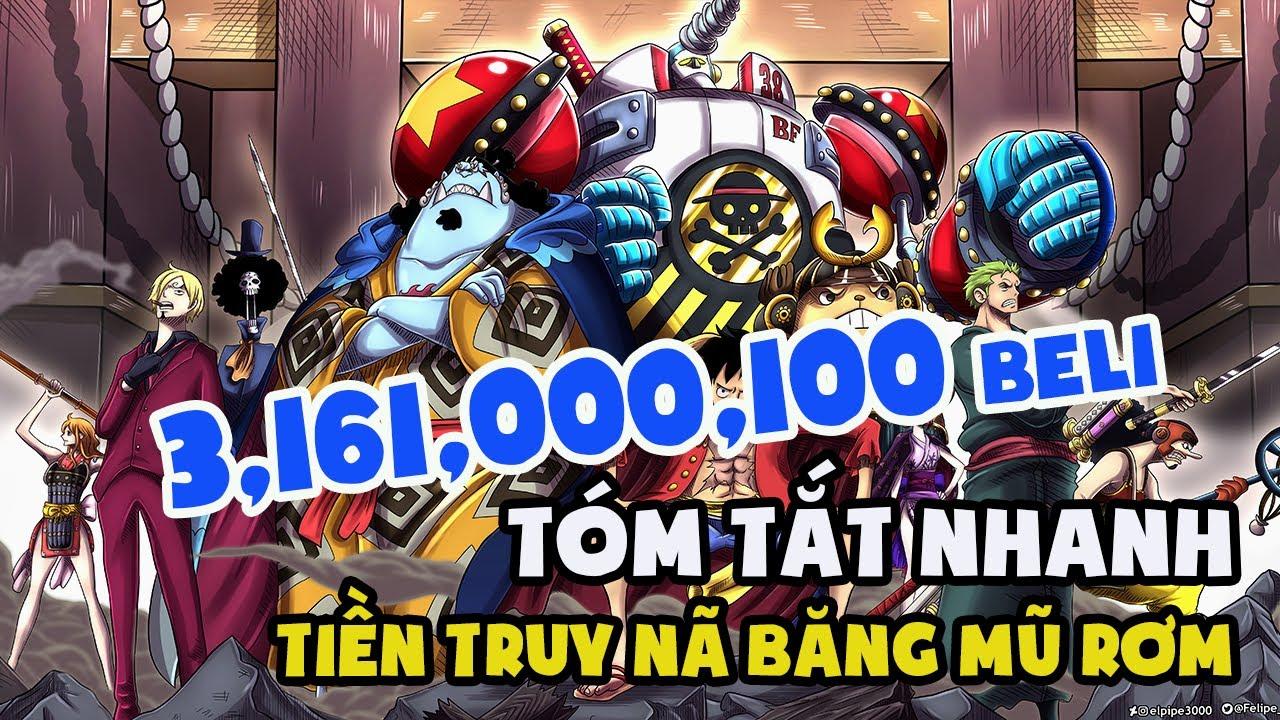 [Tóm tắt nhanh] Tiền truy nã Băng Mũ Rơm tới hiện tại | One Piece 1016