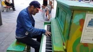 Homeless guy Plays Bohemian Rhapsody on the streets of Denver