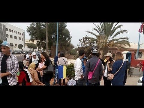 وفقة احتجاجية أمام سجن عكاشة لدعم معتقلي الحراك غلشعبي بالريف المضربين عن الطعام  - 02:22-2017 / 10 / 12