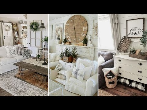 diy chic style modern farmhouse living room decor ideas home rh youtube com