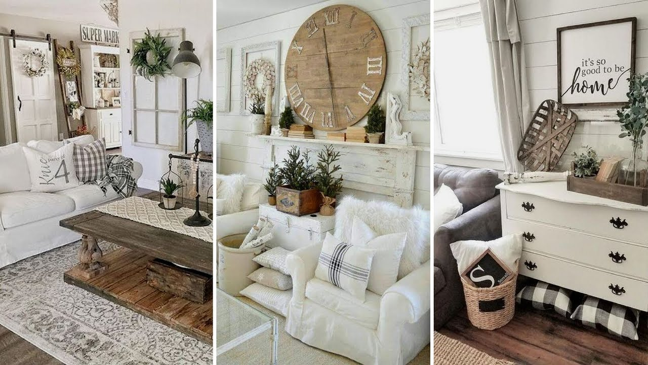 DIY Chic Style Modern Farmhouse Living Room Decor Ideas