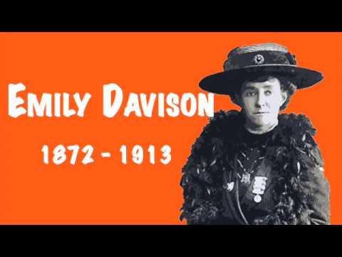 The suffragette Emily Davison for kids