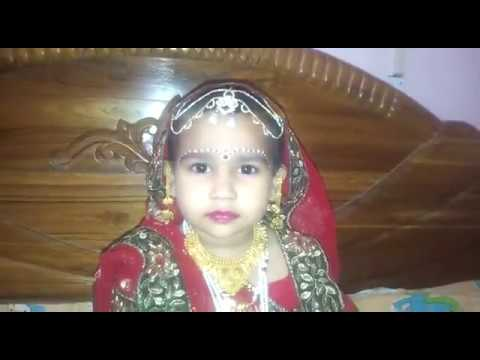 Janmashtami | Little Radha Costume And Makeup Style at Home | Radha costume idea without renting
