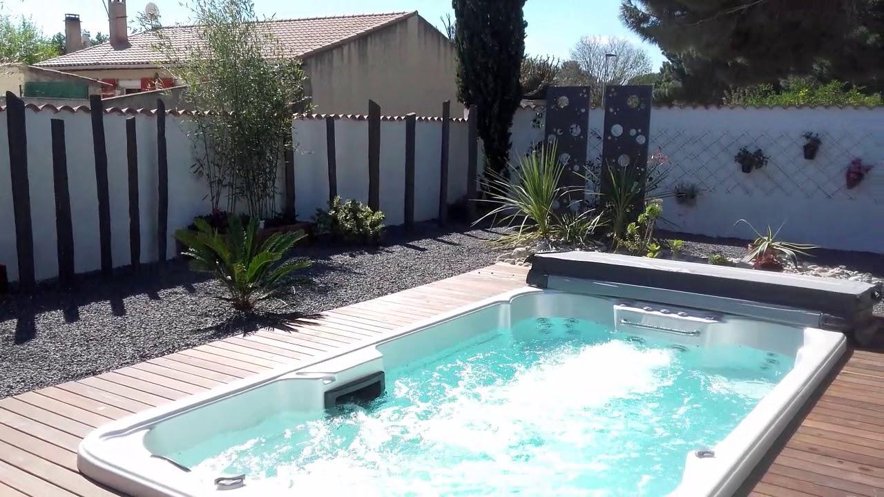 Installation Spa De Nage Exterieur Swim Spa 1 Peips Youtube