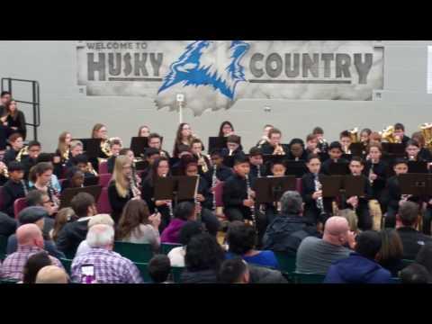 Heritage Grove Middle School Concert 6th Grade 3.01.17