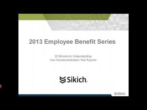 Nondiscrimination Test Reports | Testing Overview | Sikich LLP