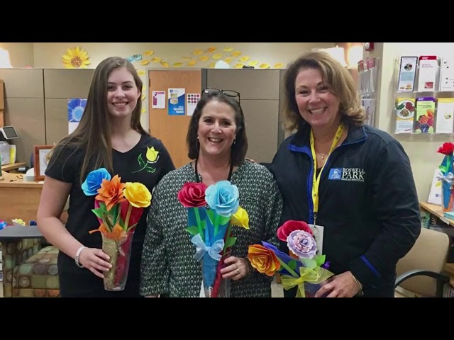 WNY teen makes paper flowers to bring smiles to cancer patients