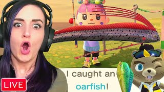 I Caught An OARFISH for the First Time During My First Animal Crossing Fishing Tournament!!