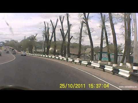 ДТП на мосту (маршрутка и ВАЗ 2114)