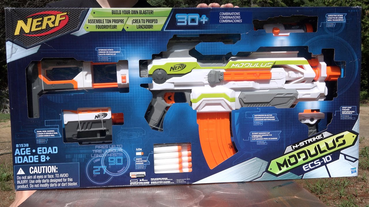 Pistola Nerf Modulus ECS Hasbro B1538EU4 Armas t