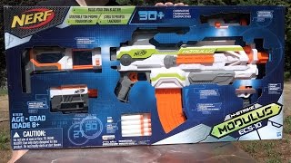 Nerf N-Strike Modulus ECS-10 Unboxing and Review