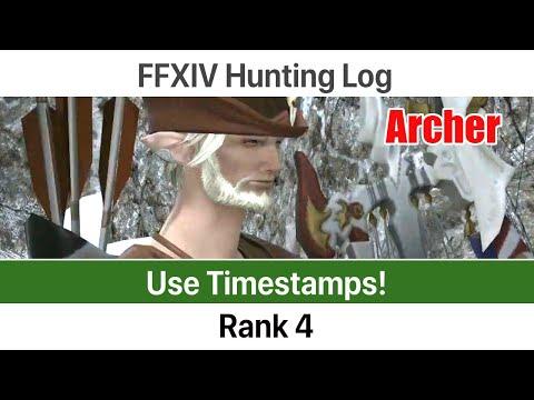 FFXIV Hunting Log Archer Rank 4 - A Realm Reborn