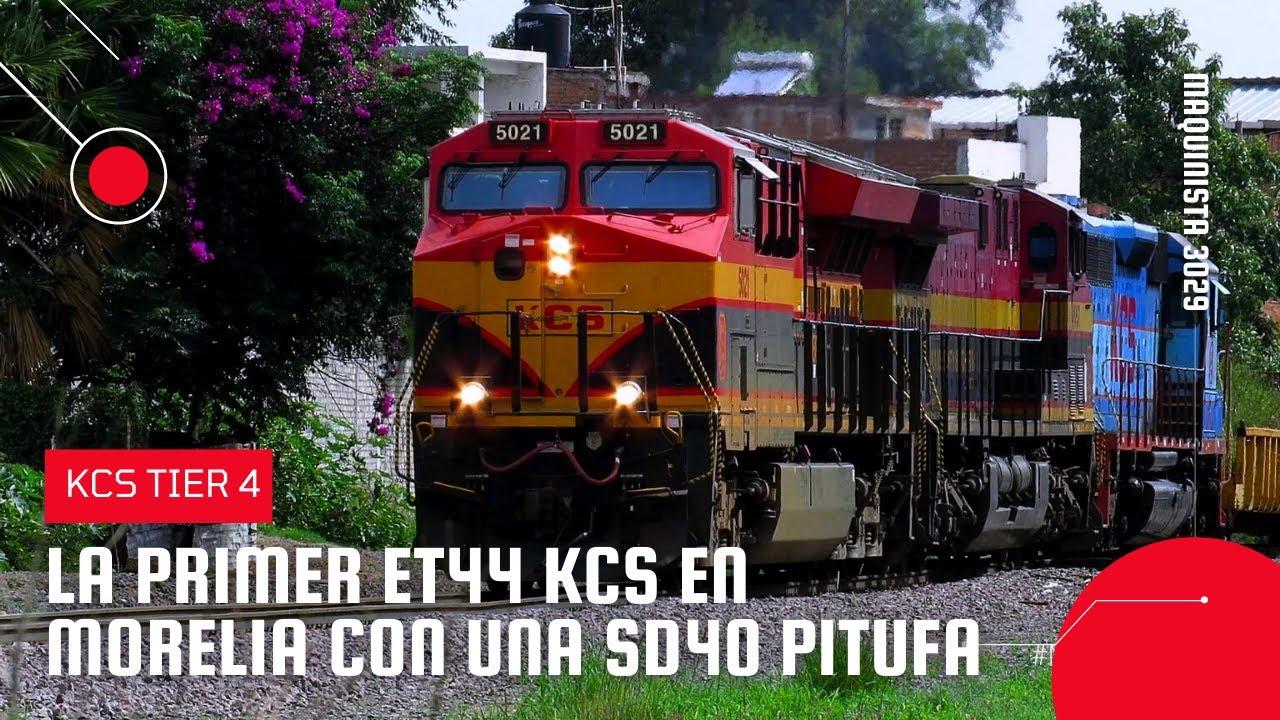 ✔️ KCS 5021 La PRIMER ET44AC de KCS en Morelia en consist con una SD40 PITUFA (Grandioso tren)