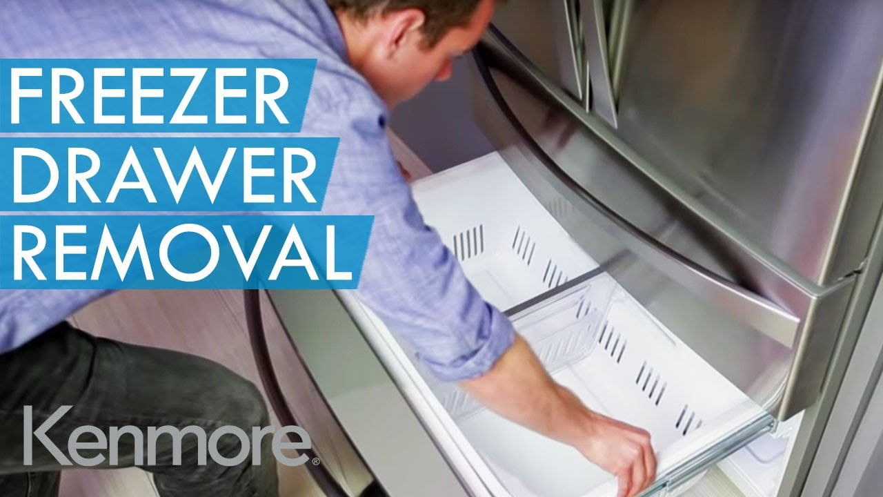 How To Remove Bottom Freezer Drawers