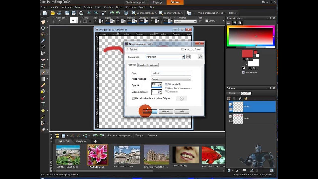 Bien connu tuto paintshop pro x4] 09 comprendre les calques - YouTube WX09