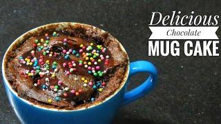 2 Minutes Eggless mug cake/ Microwave mug cake - Chocolate Mug Cake/ Instant cake recipe
