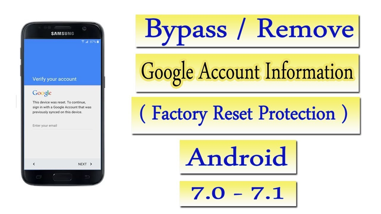 how to bypass frp  android 7 0 -7 1 without box free tool 2018   Samsung j7  core 2017 sm-j701f by How To Flash