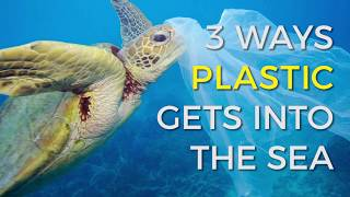 How does plastic end up in our oceans?