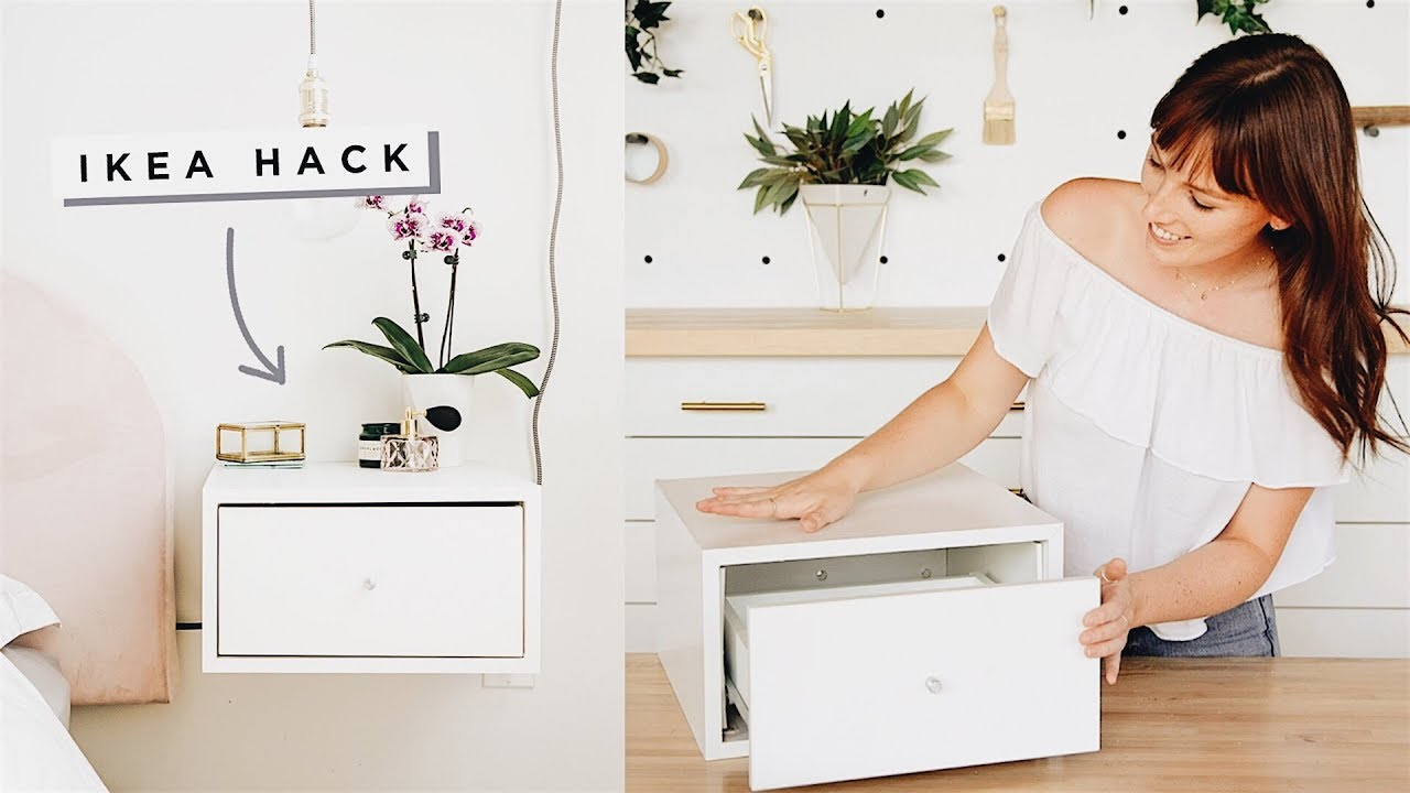 IKEA Hacked Floating Nightstands! — The Sorry Girls