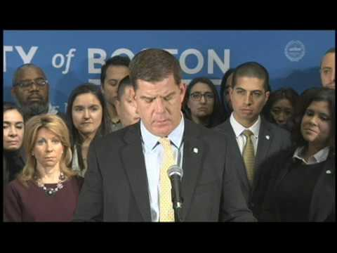 Mayor Martin Walsh Press Conference on Immigration
