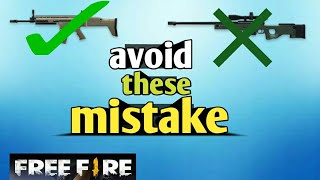 top 10 common mistakes by most of the player- free fire battleground