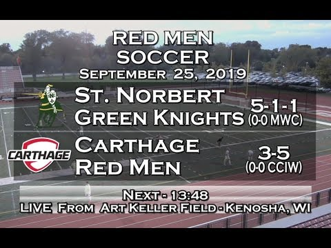 Carthage Men's Soccer Vs. St. Norbert 2019_9_25