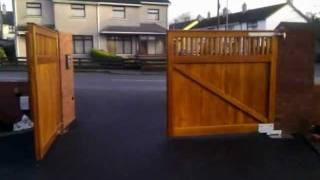 Timber Gates By Smylie Fencing Services Bangor