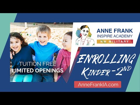 Anne Frank Inspire Academy - NW Military Opens this Fall
