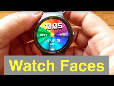 Example Watch Faces on Kingware KW88 Smartwatch AFTER 20170112