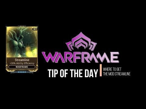 Warframe Where to get the mod Streamline