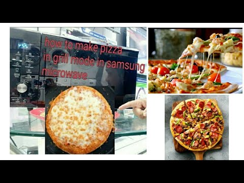 how to make pizza in grill mode in Samsung Microwave