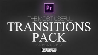Premier Pro The Most Useful Transitions Pack | %100 Free |