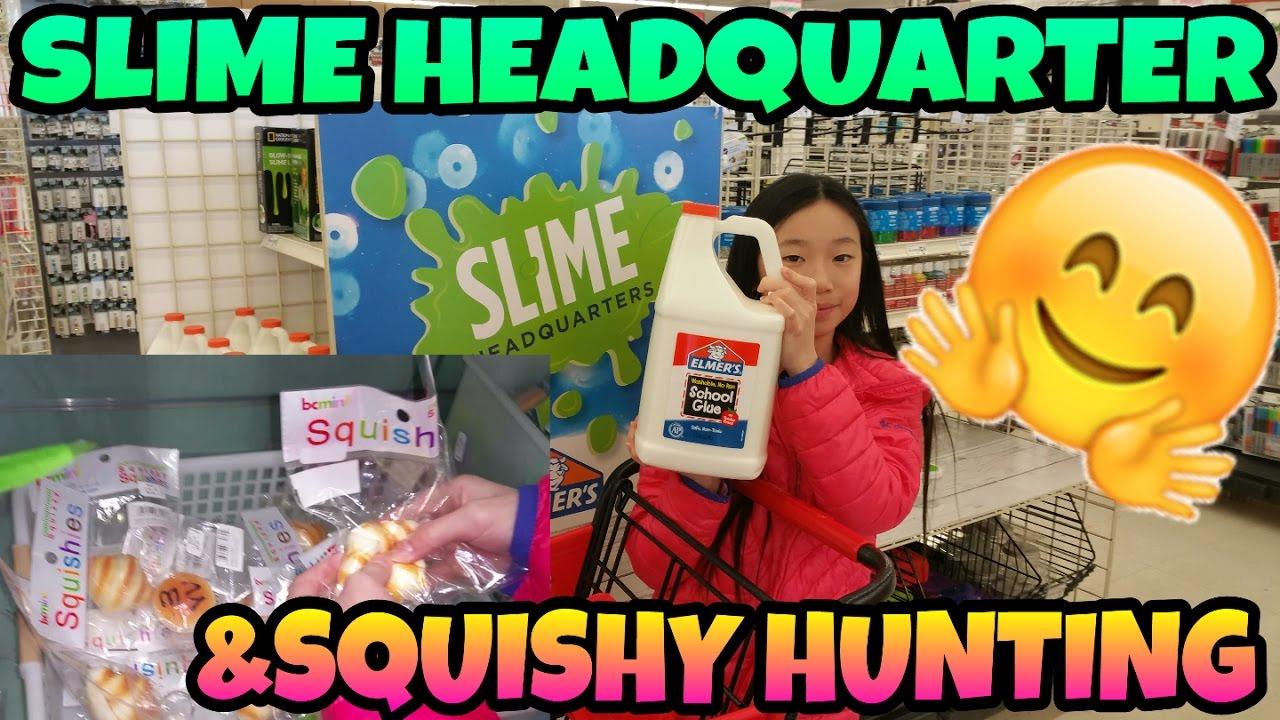Slime Headquaters Visit & Squishy Hunting At Uwajimaya Vlog