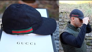 Gucci Hat Sizing   Unboxing Review Original GG canvas baseball hat with ... d510be14689f